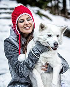 Almgwand Trachtenmode Skilederhose Winterkollektion Moser